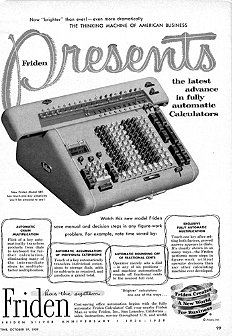 Friden Calculator Ad courtesy of The Computer History Museum