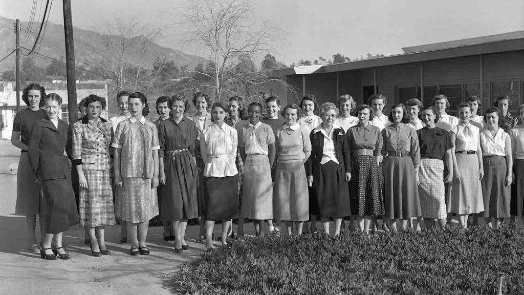 "The women of the Jet Propulsion Laboratory helped launch the first American satellites, lunar missions and planetary explorations. Those ""human computers,"" as they were called, are seen here in 1953. Courtesy NASA/JPL-Caltech"